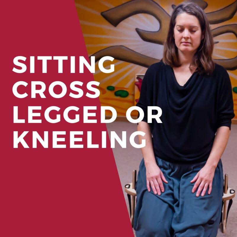 Sitting Cross Legged or Kneeling - The Kindseat Meditation Seat