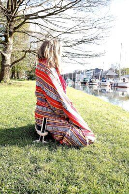 Meditating outdoors with the Kindseat Adjustable meditation seat